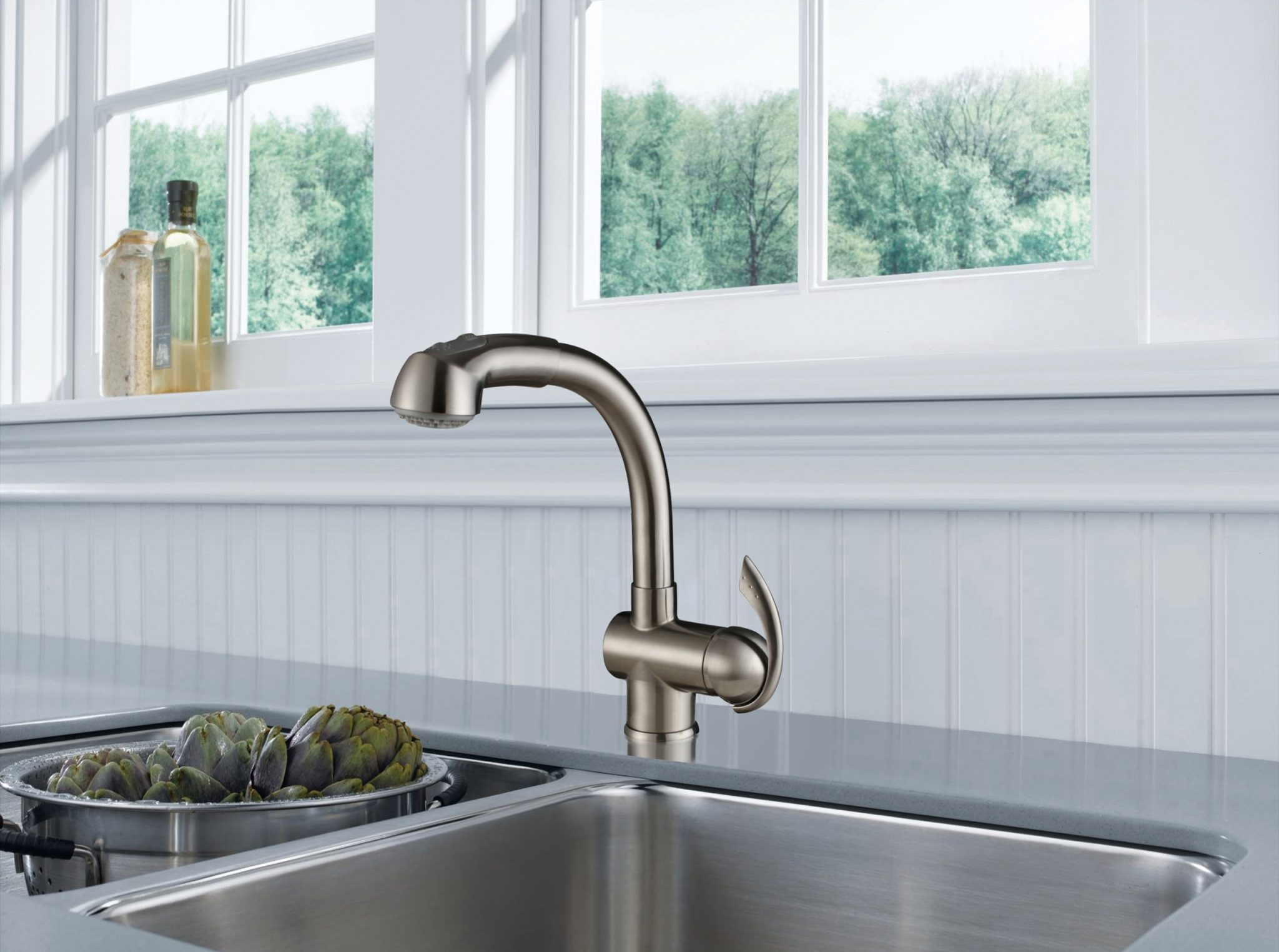 Single Handle Pull-out Kitchen Faucet- KSK1110C – OAKLAND