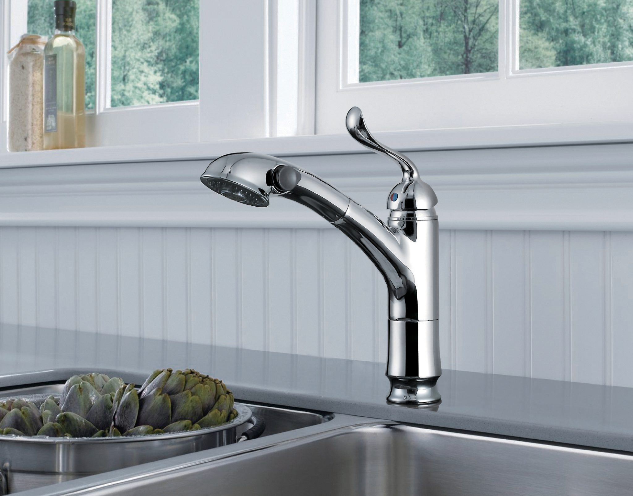 Single Handle Pull-Out Kitchen Faucet- KSK1116BN – OAKLAND