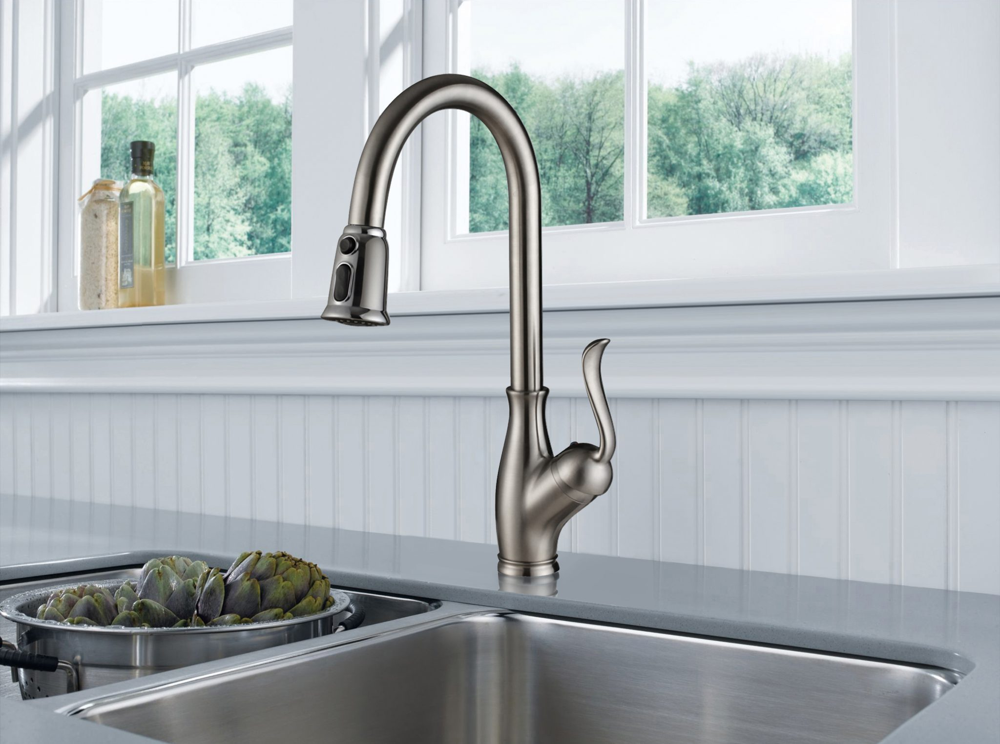 Single Handle Pull-Down Kitchen Faucet -KSK1114C – OAKLAND