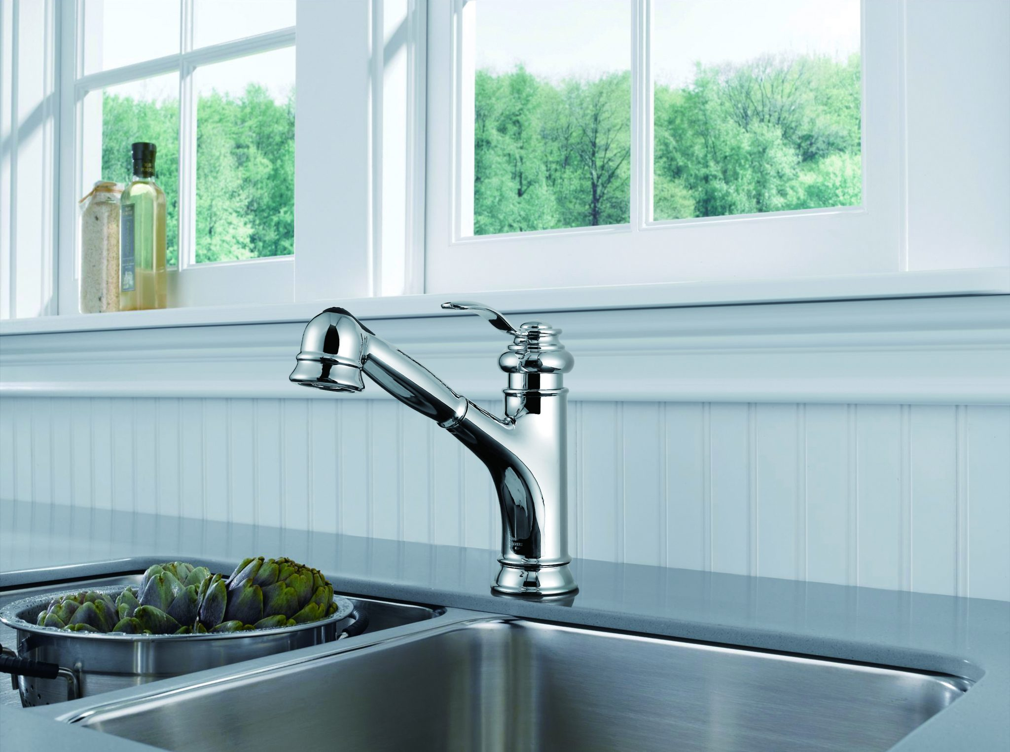 Single Handle Pull-Out Kitchen Faucet -KSK1001BN – OAKLAND