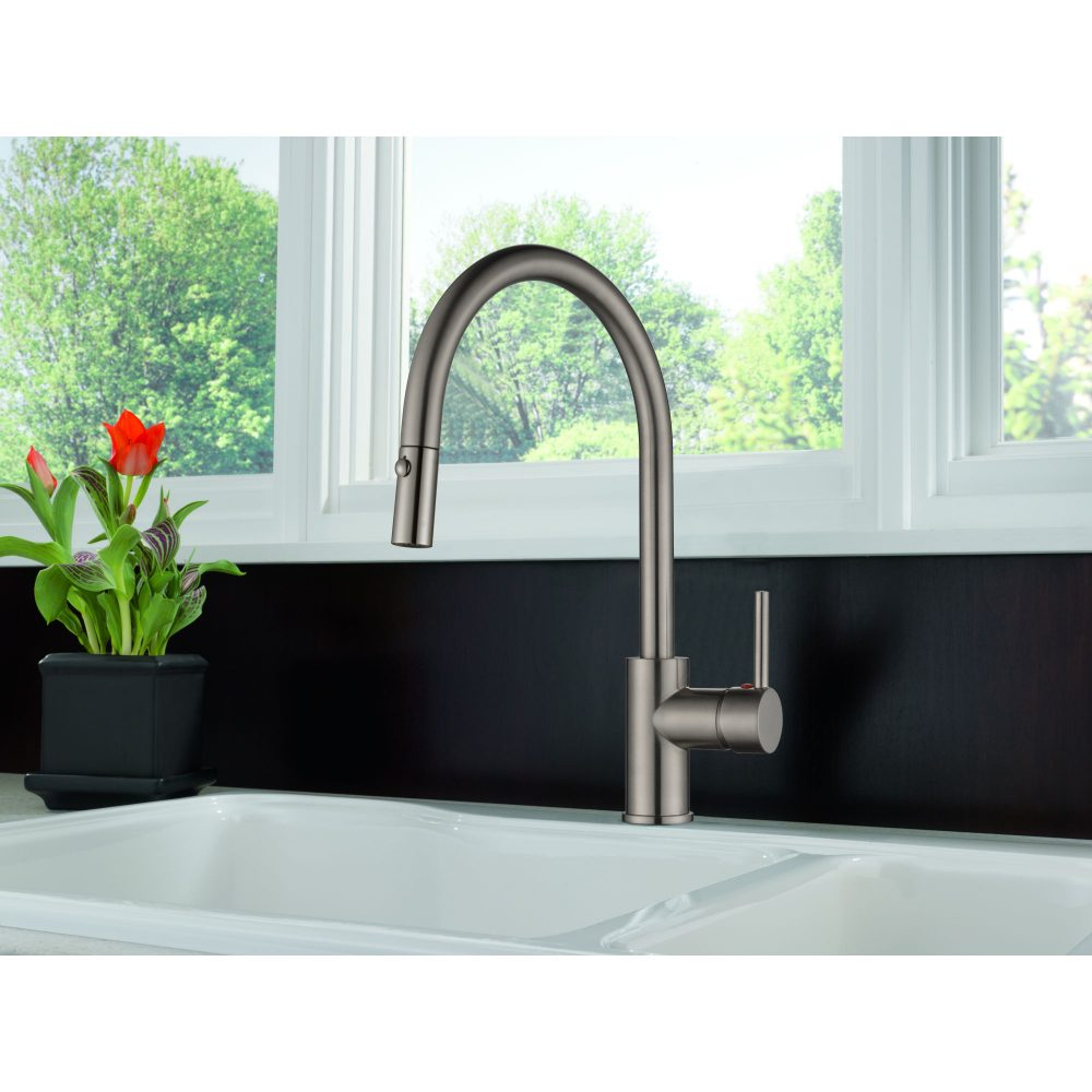 Single Handle Pull-down Kitchen Faucet-KSK1126BN – OAKLAND
