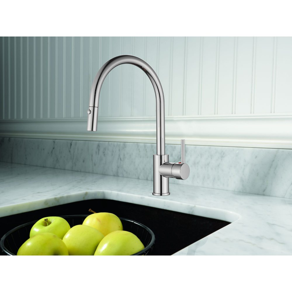 Single Handle Pull-down Kitchen Faucet-KSK1126C – OAKLAND